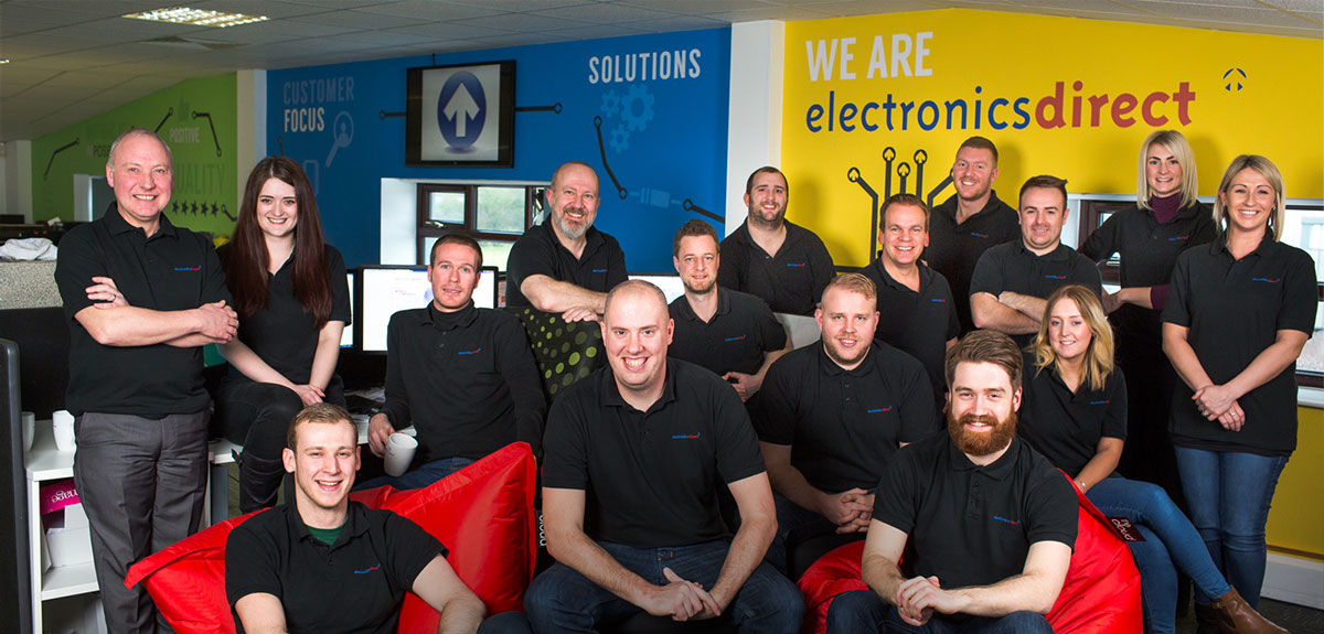 A photo of the Electronics Direct team members